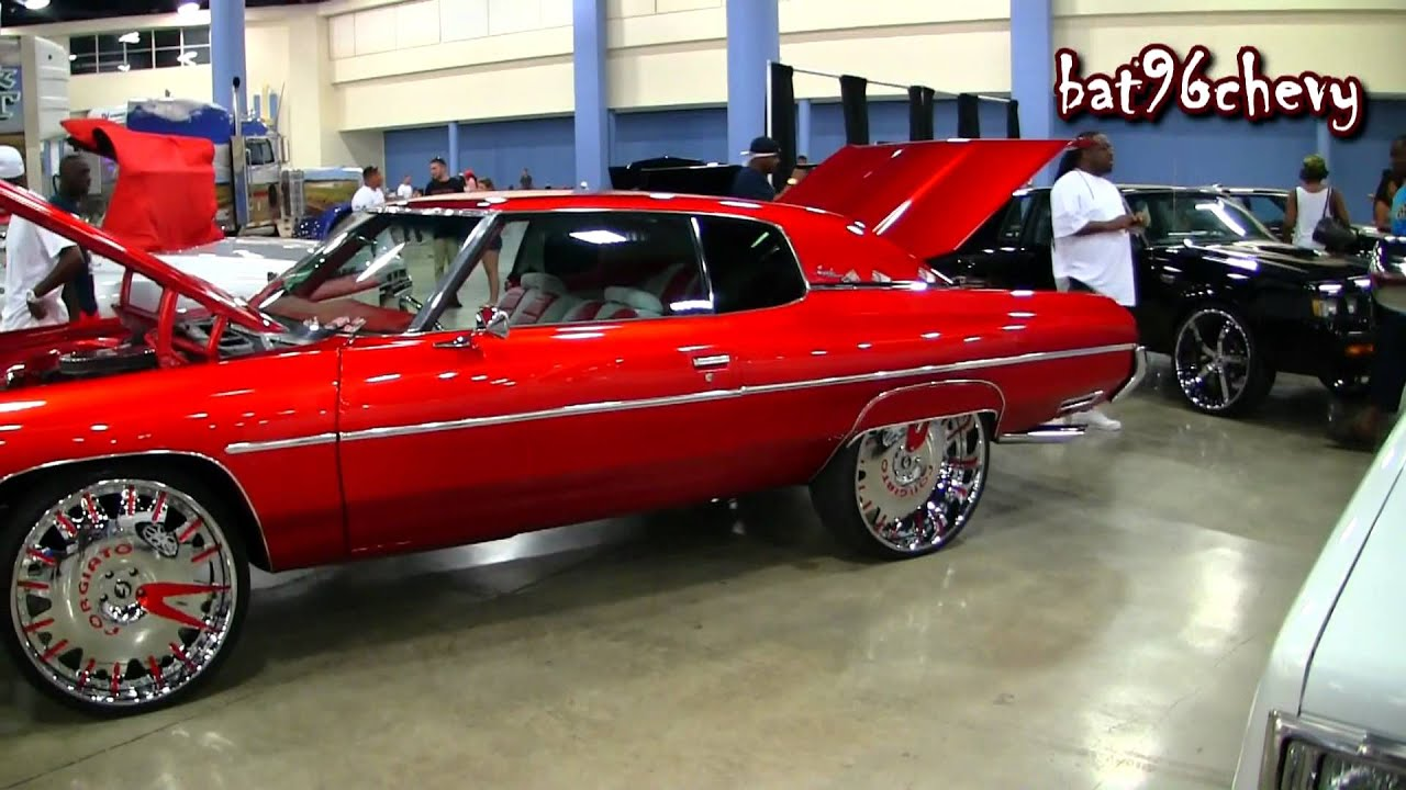 "Candy RED 72 Impala Custom Donk on 26"" Forgiatos Enzo Wheels - 1080p"