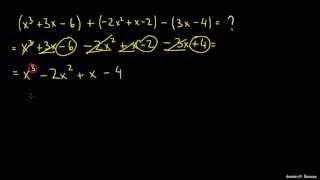 Seštevanje in odštevanje polinomov 2