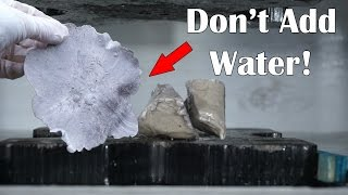 Don't Spray Sodium Metal With Water After Flattening It In A Hydraulic Press!