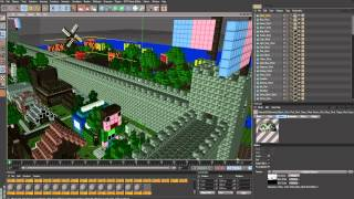 How To Make A Minecraft Scene In Cinema 4D!