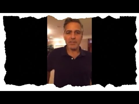 George Clooney supports Ukranian demonstrators