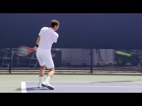 Andy Murray Forehand, Backhand and Serve - 2013 Cincinnati Open