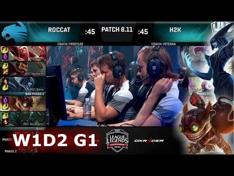 ROCCAT vs H2K Gaming | Week 1 Day 2 S8 EU LCS Summer 2018 | ROC vs H2K W1D2