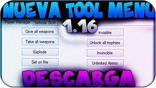Grand Theft Auto V Nueva Tool Menu 1.16 + Descarga