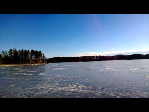 Ice Cracking on Lake Saimaa, Finland
