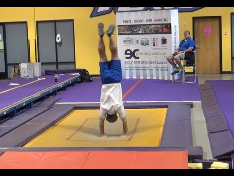 Mark Goodson Tumbling Expert Part 3 shows you how its done on the trampoline!