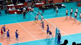 Men's Volleyball: Russia VS. Brazil Warm Up 2012 London