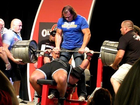 Glenn Russo Bombs With 1000 Lb Bench Press Youtube