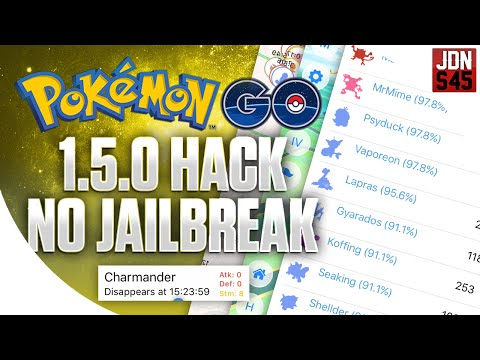 POKEMON GO 1.5.0 HACK NO JAILBREAK TAP TO WALK, INSTANT IV'S, GO ANTWHERE AND MORE