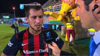 """Blanco: """"Todavía falta acoplarnos"""". Defensa 1 - San Lorenzo 2. Fecha 2. Primera División 2015. FPT."""