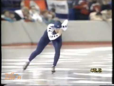 Winter Olympic Games Calgary 1988 – 3 km Van Gennip (WR) – Nemeth-Hunyady