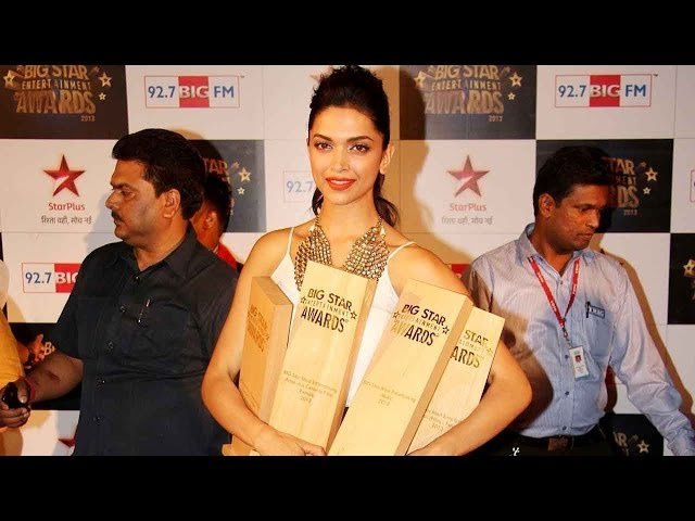 Video | Deepika Padukone bags 3 Awards | 4th Big Star Entertainment Awards 2013