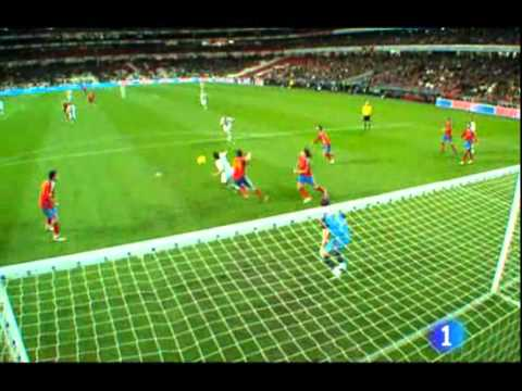 Portugal vs Spain 4 - 0 (Friendly Match 2010)      - YouTube  , Gols: Carlos Martins (45 m.), Hélder Postiga (49, 68 ms.) and Hugo Almeida (90+3 m.). Stadium: Luz (Lisbon, Portugal)