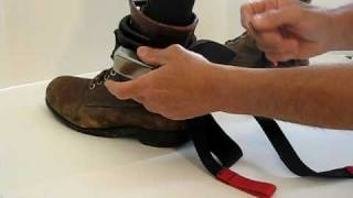 BodyCuff Adjustable Leg Restraint Applying Restraint.AVI