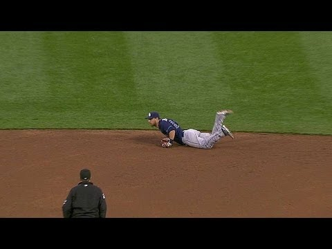 TB@CIN: Zobrist makes the diving catch on sharp liner