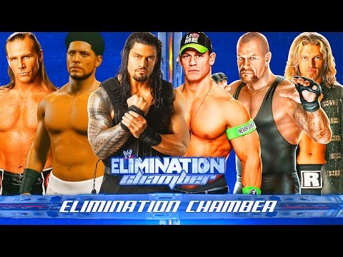 WWE 2K15 - CRAZY Elimination Chamber Match!