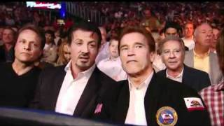 The Expendables Cast At Klitschko Vs Arreola