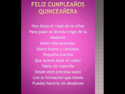 Mensaje de feliz cumpleaños para una quinceañera - Imagui