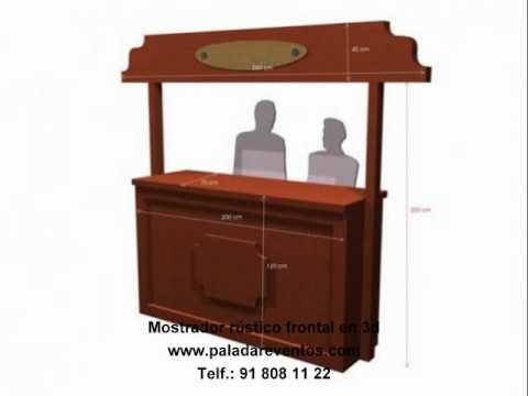 Mostradores de madera rusticos mostradores barras de bar - Barras de madera para bar ...