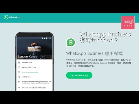 Whatsapp business 有咩function?