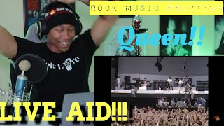 """First Reaction to """"Rock Music"""" Queen (Live at Live Aid 1985/07/13)"""