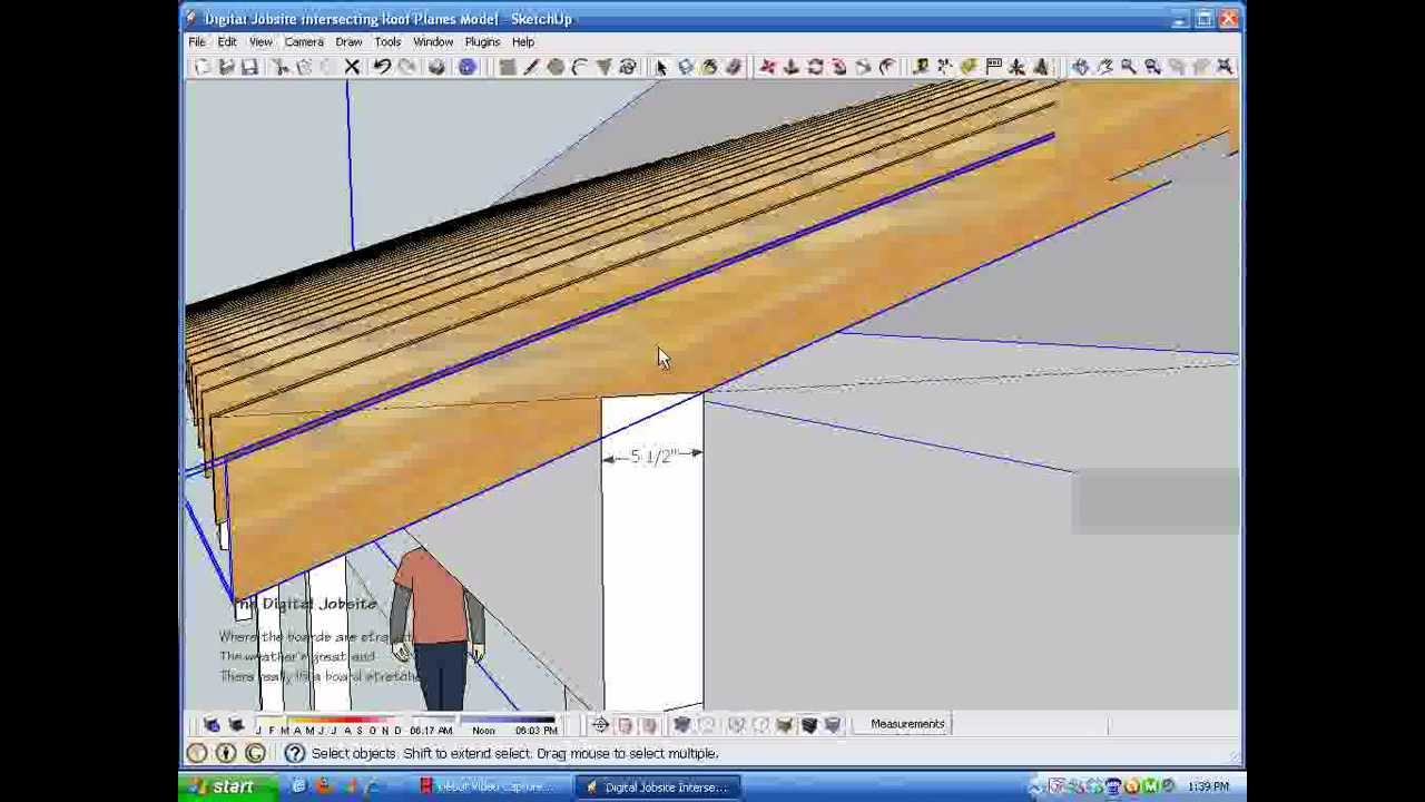 Intersecting Roof Plane Rafter Calculations Wmv Youtube