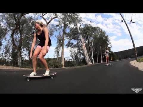 Gravity Skateboards - California Girls Skating, Surfing, Sliding and Freeriding