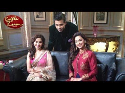 Madhuri Dixit & Juhi Chawla in Koffee With Karan Season 4 23rd February 2014 Episode