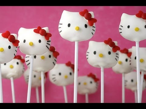 How to: Hello Kitty Cake Pops