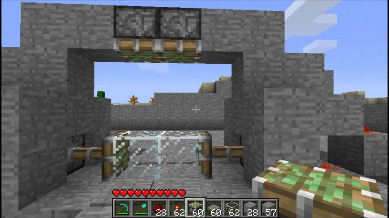 how to build a door in minecraft