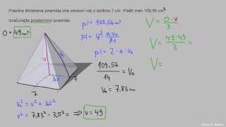 Prostornina piramide 2