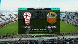 Fútbol en vivo. Huracán - Crucero. Fecha 8. Torneo Primera B Nacional. FPT.