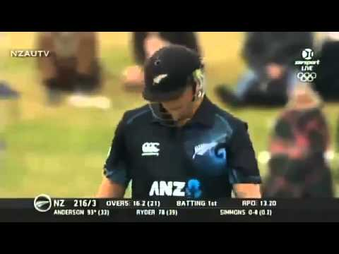 Corey Anderson Worlds Fastest Century In ODI cricket Full Batting  2014