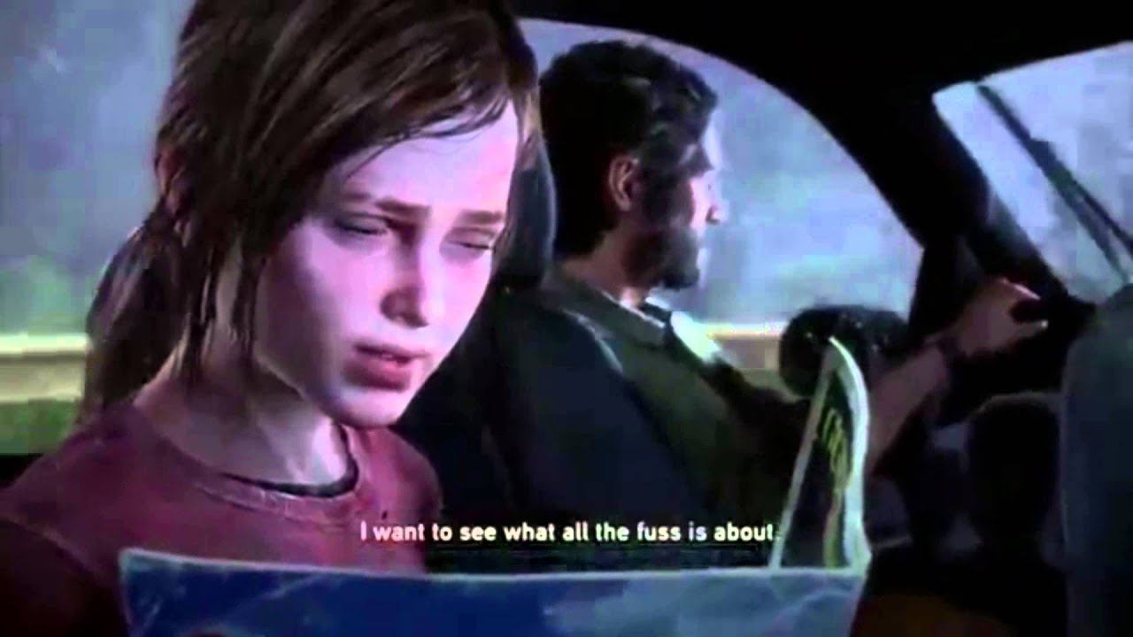 The Last Of Us Ellie Finds Porn Cutscene - YouTube