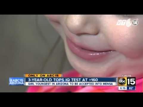 VTC14_Bé gái 3 tuổi thông minh như Bill Gates