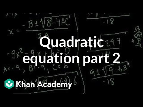 Quadratic Equations 2