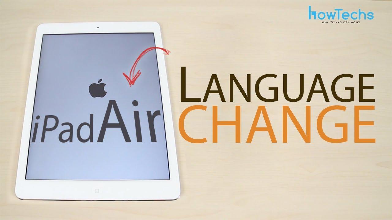 how to change language on facebook on ipad