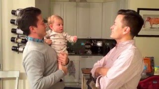 Cute Baby Is Confused By Dad's Twin