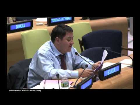 National Statement on Sustainable Cities | Ecuador on behalf of Argentina, Bolivia and Ecuador