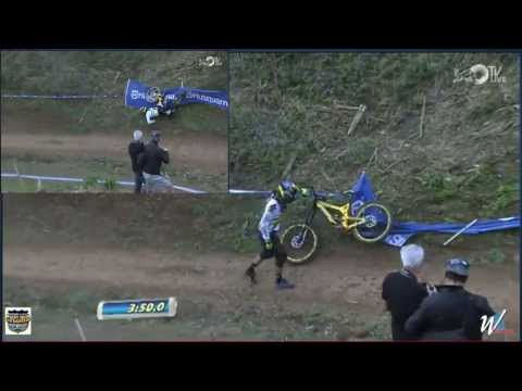 Samuel Hill crashed @ UCI Mountain Bike World Championships 2013 Pietermaritzburg South Africa