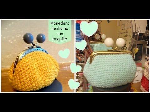 Monedero de ganchillo fácil con forro - Easy crochet purse - Tutorial