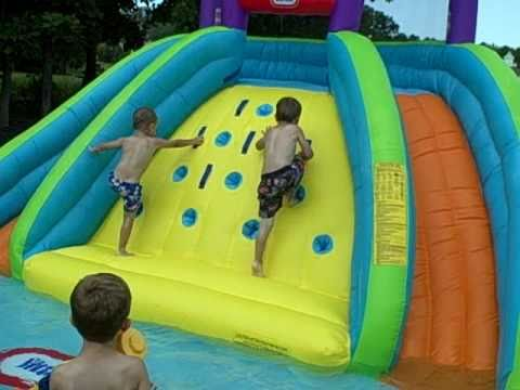 Little Tikes Rocky Mountain River Race Inflatable Water Slides