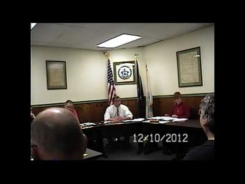 Champlain Village Board Meeting 12-10-12