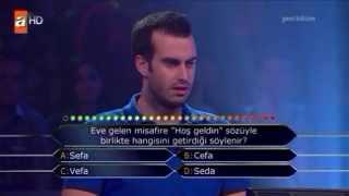 Kim milyoner olmak ister 27 mayıs 2014 Mert Kurtoğlu 349. bölüm