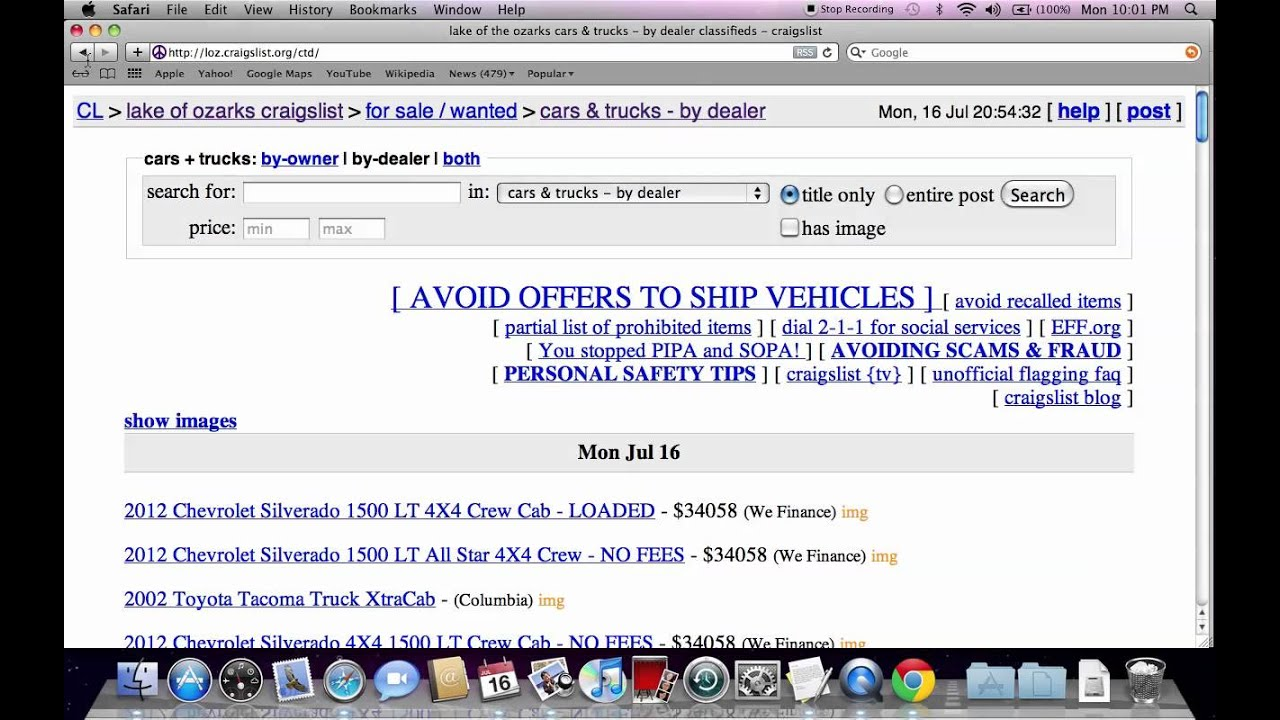Craigslist Lake Of The Ozarks Cars And Trucks