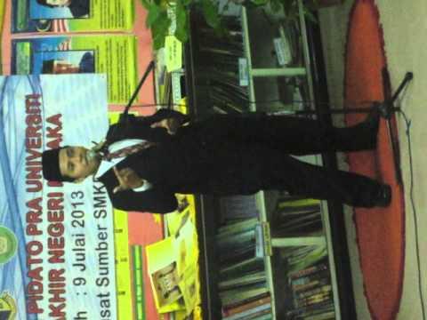 Pidato Piala Pra Universiti peringkat Negeri Melaka 2013