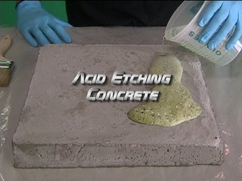 Acid Etching Concrete Youtube