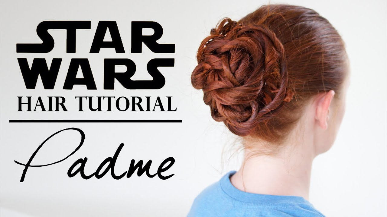party hairstyles for medium length hair : Star Wars Hair - Padm? in the Gladiator Ring - YouTube
