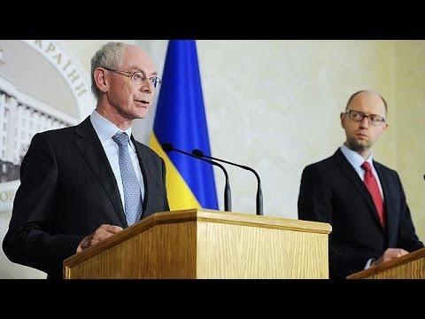 Ucrânia: Herman Van Rompuy e Arseniy Yatsenyuk encontram-se em Kiev