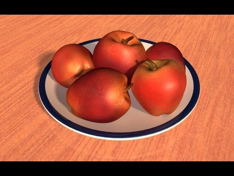 Autodesk Maya 2013 Tutorial - Model and Texture an Apple